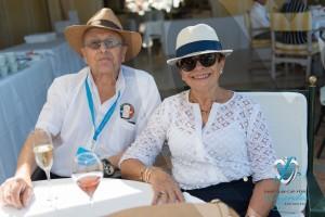 Jacques Braneyre, juge international et son épouse à la Voile d'Or à Saint-Jean-Cap-Légendes édition 2015