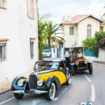 Parade dans la Presqu'île des voitures du Concours d'élégance en Automobile 2015 à Saint-Jean-Cap-Légendes édition 2015