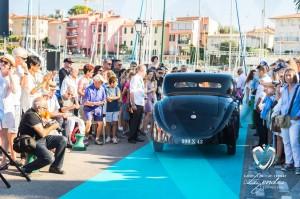 Défilé de la Bugatti Type 57C Atalante à Saint-Jean-Cap-Légendes édition 2015 - Concours et Exposition de voitures de collection