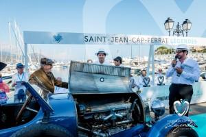 Présentation des mécaniques de la Bugatti Type 43 à Saint-Jean-Cap-Légendes édition 2015 - Concours et Exposition de voitures de collection