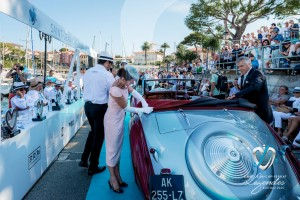Défilé de la Delahaye 135M de Figoni & Falaschi à Saint-Jean-Cap-Légendes édition 2015 - Concours et Exposition de voitures de collection