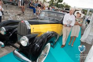 Lauréat du Concours d'état – Catégorie Authentique pour la Bugatti Atalante 57C de 1938 à Saint-Jean-Cap-Légendes édition 2015