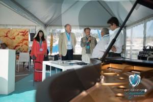 Inauguration de l'événement en présence de Jean-François Dieterich et M. Alfieri Maserati , parrain de l'événement à Saint-Jean-Cap-Légendes édition 2015