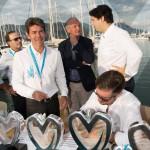 Remise des prix avec Marc Gallon, Jean-François Dieterich, maire de Saint-Jean-Cap-Ferrat et le duo Pierre Novikoff & Matthieu Lamoure
