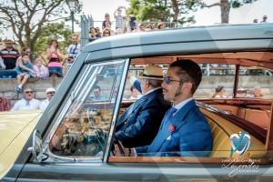 L'élégance et l'intérieur Hermès de la Rolls Royce Silver Wraith « Pupy » qui défile devant le public de Saint-Jean-Cap-Légendes édition 2015