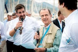 Remise des prix avec Matthieu Lamoure et Pierre Novikoff et M. Alfieri Maserati, parrain de l'événement à Saint-Jean-Cap-Légendes édition 2015