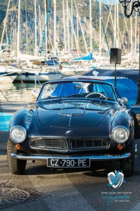 BMW 507 Roadster de 1957 sur le Port de plaisance de Saint-Jean-Cap-Ferrat à Saint-Jean-Cap-Légendes édition 2015 - Concours d'état
