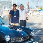 Matthieu Lamoure et Pierre Novikoff d'Artcurial au coté de la BMW 507 Roadster de 1957 à Saint-Jean-Cap-Légendes édition 2015