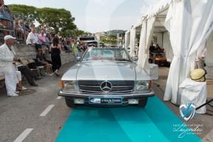 Défilé de la Mercedes 450 SL de 1988 à Saint-Jean-Cap-Légendes édition 2015 - Concours Youngtimers