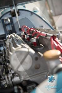 Exposition de voitures de collection - Mécanique de la Gordini Type 16 conduite par Jean Behra à Saint-Jean-Cap-Légendes édition 2015