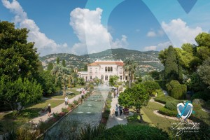 Vue de la Villa Ephrussi de Rothschild de Saint-Jean-Cap-Ferrat