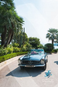 L'élégance Automobile à la Villa Ephrussi de Rotschild avec le Grand Prix d'Excellence en concours d'état, la Mercedes-Benz 280SL Pagode
