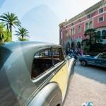 Vue de la Villa Ephrussi à travers la Rolls Royce Silver Wraith de Rothschild à Saint-Jean-Cap-Légendes édition 2015