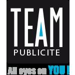Logo Team Publicité, Partenaire de Saint-Jean-Cap-Ferrat Légendes concours automobile