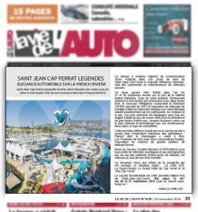 Article de presse La vie de l'auto