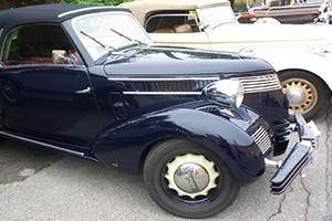 Lancia Aprilia cabriolet Balbo au concours d'élégance