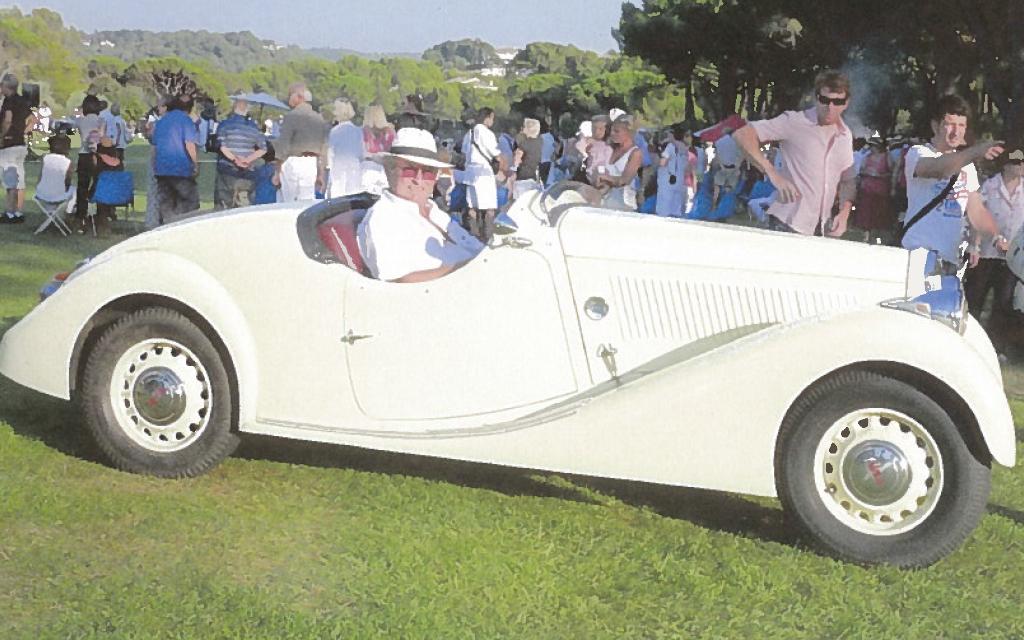 Lancia Belna Pourtout au concours d'élégance