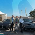 Marc Gallon, Jean-François Dieterich et Alfieri Maserati sur le stand partenaire du Groupe Segond Maserati à Saint-Jean-Cap-Légendes édition 2015