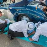 Lancia Astura Cabriolet Pinin Farina de 1937 en pleine inspection par le jury du Concours d'état à Saint-Jean-Cap-Légendes édition 2015