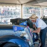 Préparation de la Lancia Astura Cab Pininfarina et Emmanuel Bacquet à Saint-Jean-Cap-Légendes édition 2015 - Concours d'élégance & Exposition Automobile